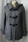 Пальто женское модное стильное с капюшоном демисезонное шерсть бренд APT.9 р.46 5475