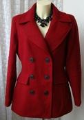 Пальто женское модное стильное яркое шерсть демисезонное бренд APT.9 р.46-48 5476