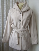 Пальто женское модное элегантное с капюшоном демисезонное бренд Croff&Barrow р.52-54 5477