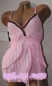 майка-туника-сарафан с деревянными бусами, 3 цвета - розовый,  черный, шоколад, р-ры с,м,л