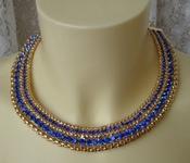 Колье женское ожерелье модное украшение металл ювелирная бижутерия 5573