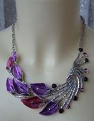 Колье женское райская птица украшение металл ювелирная бижутерия 5574
