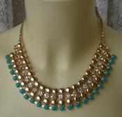 Ожерелье женское колье металл кристаллы ювелирная бижутерия 5584