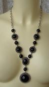 Ожерелье женское колье подвески металл агат ювелирная бижутерия 5581