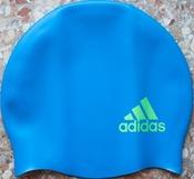 Adidas Logo шапочка для плавания силиконовая детская голубая
