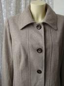 Пальто женское демисезонное элегантное шерсть бренд Croft&Barrow р.52  5504