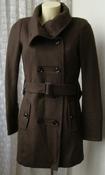 Пальто женское модное элегантное шерсть демисезонное бренд Yessica р.46 5483