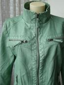 Куртка женская модная искусственная кожа демисезонная бренд Gina р.50 5488