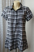 Платье туника модное хлопок мини бренд Mbj р.46-48 5547