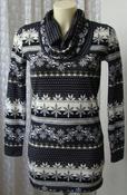 Свитер женский нарядный туника теплая бренд MustHave р.46 5552