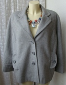Пальто женское элегантное стильное шерсть бренд Antonelle р.52 5025