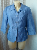 Жакет женский летний модный легкий лен бренд Fabiani р.46 5049