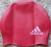 Adidas силиконовая шапочка для плавания детская красная E44341