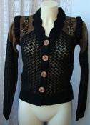 Кофта женская вязаная нарядная ажурная элегантная бренд Liza р.42-44 5604