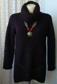Свитер женский вязаный туника теплая зимняя акрил бренд Papaya р.46-48 5612