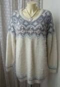 Свитер женский модный теплый нарядный пушистый бренд F&F р.48 5633