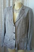 Пиджак женский легкий лен большой размер бренд Lebek р.52-56 5642