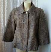 Куртка женская жакет демисезонный нарядный большой размер бренд Bonmarche р.56 5645