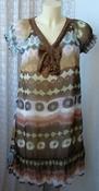 Платье женское летнее легкое модное с декором мини р.44 5655