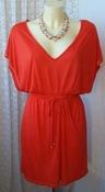 Платье женское туника летняя легкая яркая вискоза стрейч бренд Papaya р.44-46 5667