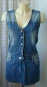 Подростковое платье джинсовое мини бренд Inscene р.13 лет 158 см 5674