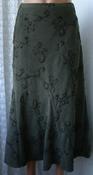 Юбка женская демисезонная вышивка бренд Bm р.52 5684