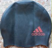 Adidas Logo детская шапочка для плавания силиконовая черная