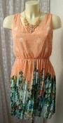 Платье женское легкое летнее мини бренд Danity TU р.44 5149