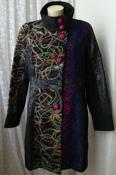 Пальто женское яркое модное оригинальное демисезонное бренд 101 Idees р.52 5222