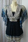 Туника женская легкая летняя пляжная нарядная декор бренд Mode Lina р.42-44 5730