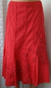 Юбка женская хлопок вышивка декор бренд Per Una р.50 5749
