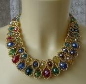 Ожерелье женское колье модное металл цепь ювелирная бижутерия 5819