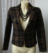 Пиджак женский жакет зимний нарядный блестящий бренд Eve р.44 5862