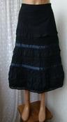 Юбка женская черная нарядная хлопок бренд Only р.40-42 5895