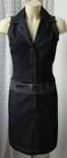 Платье женское джинсовое летнее модное стильное мини бренд Street one р.40-42 5920