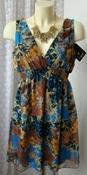 Платье женское летнее яркое легкое мини бренд SisterS point р.40-42 5922