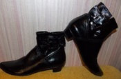 Новые кожаные демисезонные черные Днепропетровск ботинки - 37 размер