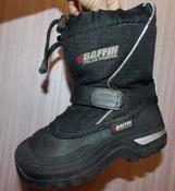 Очень теплые зимние черные термо-сапожки-сноубутсы BAFFIN -12 размер, 18, 5см