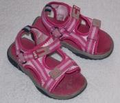 Босоножки UNITS на девочку - розовые текстильные - 27 размер, 17,2 см стелька