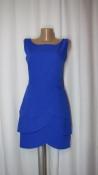 """Изумительное платье """"Лепестки"""" глубокого синего цвета"""
