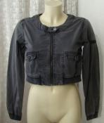 Куртка женская легкая серая болеро плотный хлопок бренд ICHI р.42-44 5994