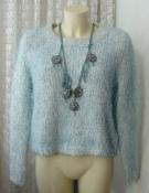 Свитер женский джемпер зимний нарядный пушистый травка бренд F&F р.44-52 6001