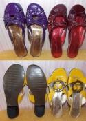 Новые кожаные шлепанцы в цветах - 36 и 37 размеры. Украина.