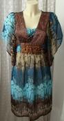 Туника женская легкая летняя нарядная декор бренд Bosebelking р.50 6081