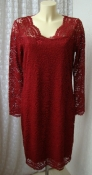 Платье женское нарядное коктейльное кружево миди бренд Vero Moda р.48-50 6096