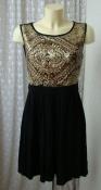 Платье женское черное коктейльное пайетки бренд Anna Field р.46 6098