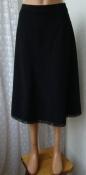 Юбка черная демисезонная деловая офисная костюмная кружево Sure р.46 6107