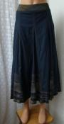 Юбка женская черная легкая демисезонная длинная Diana Callesi р.46-48 6115