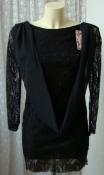Платье женское нарядное модное элегантное гипюр мини бренд Jhangyite р.40-42 6144