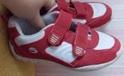 Красно-белые кроссовки AGAXY  на девочку - 33 размер, 20 см стелька